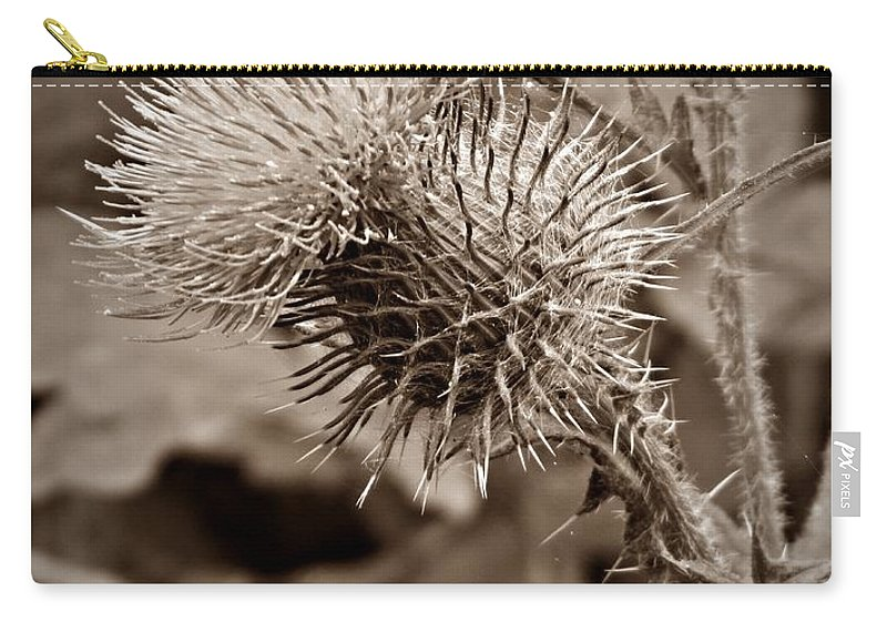 One Sepia Carry-all Pouch featuring the photograph One Sepia by Chalet Roome-Rigdon