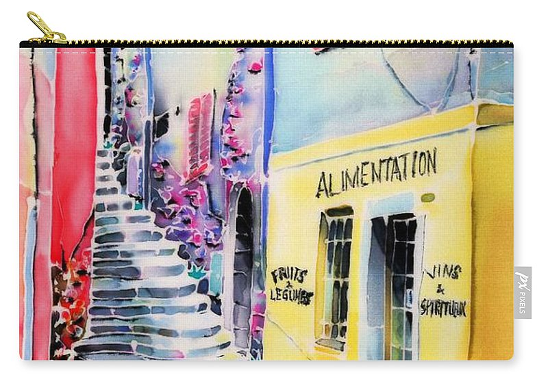 France Carry-all Pouch featuring the painting One Spring Day by Hisayo Ohta