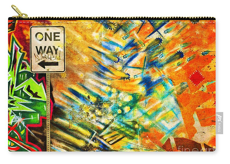 Graffti Carry-all Pouch featuring the photograph One Way Street by Tara Turner