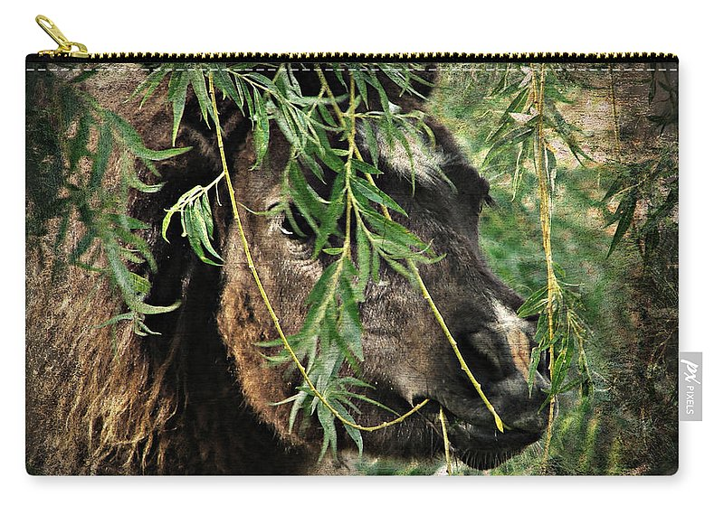 Willow Carry-all Pouch featuring the digital art Onery Mini Filly by Cassie Peters