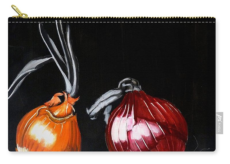 Onions Carry-all Pouch featuring the painting Onions by Richard Le Page