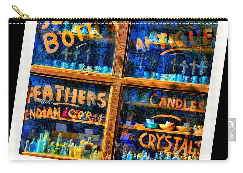 Cerrillos New Mexico Carry-all Pouch featuring the photograph Only In Cerrillos by Diana Angstadt