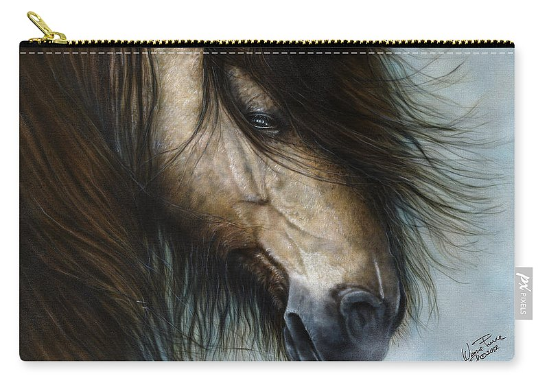 Horse Carry-all Pouch featuring the painting Only The Strong Survive I by Wayne Pruse