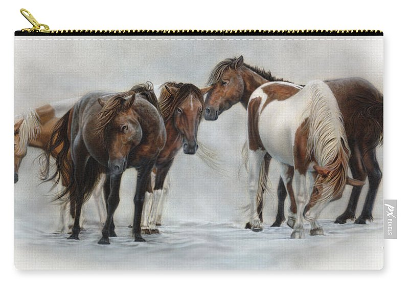 Horse Carry-all Pouch featuring the painting Only The Strong Survive II by Wayne Pruse