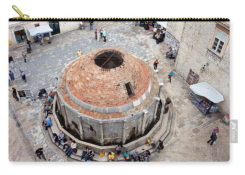 Croatia Carry-all Pouch featuring the photograph Onofrio Fountain In Dubrovnik by Artur Bogacki