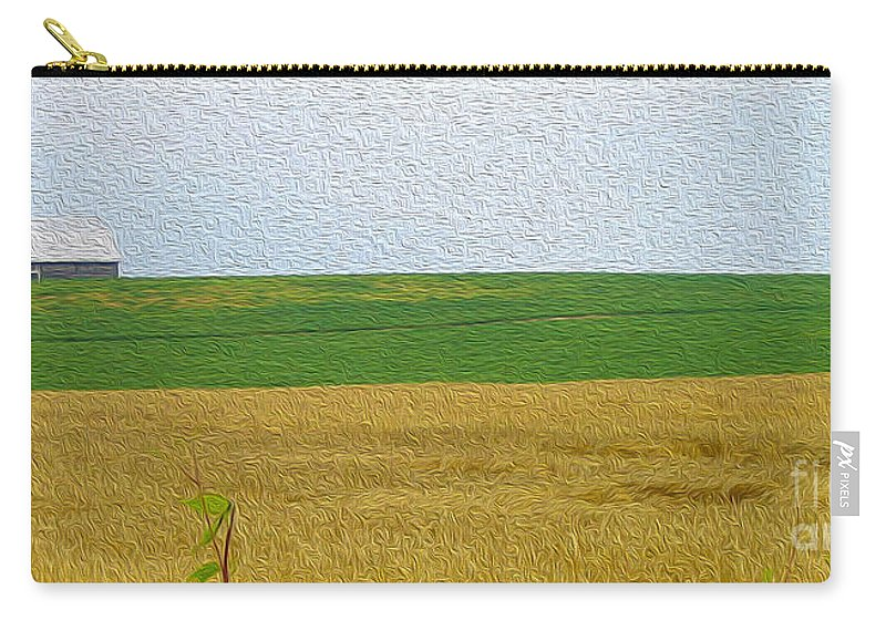 Ontario Carry-all Pouch featuring the photograph Ontario Farm In Landscape Mode by Nina Silver