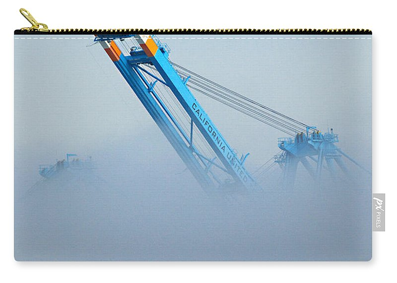 Cranes Carry-all Pouch featuring the photograph Onward...through The Fog by Joe Schofield