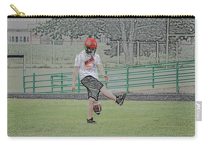 Digital Art Carry-all Pouch featuring the photograph Oops Digital Art by Thomas Woolworth