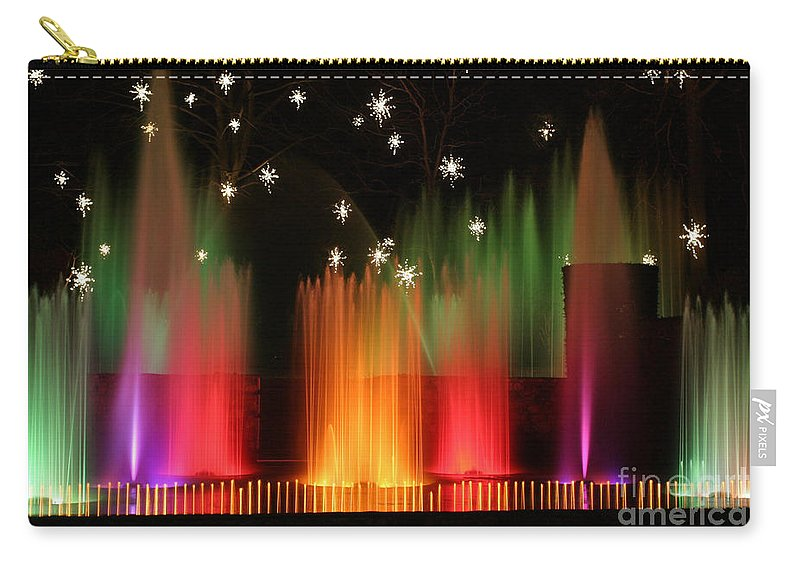 Open Air Carry-all Pouch featuring the photograph Open Air Theatre Rainbow Fountain by Living Color Photography Lorraine Lynch