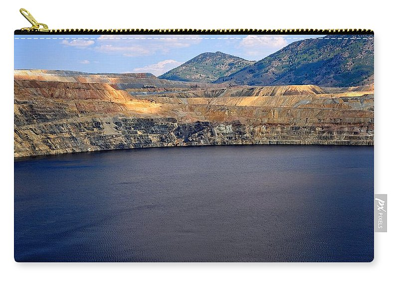 Butte Carry-all Pouch featuring the photograph Open Pit Copper Mine by Image Takers Photography LLC - Laura Morgan
