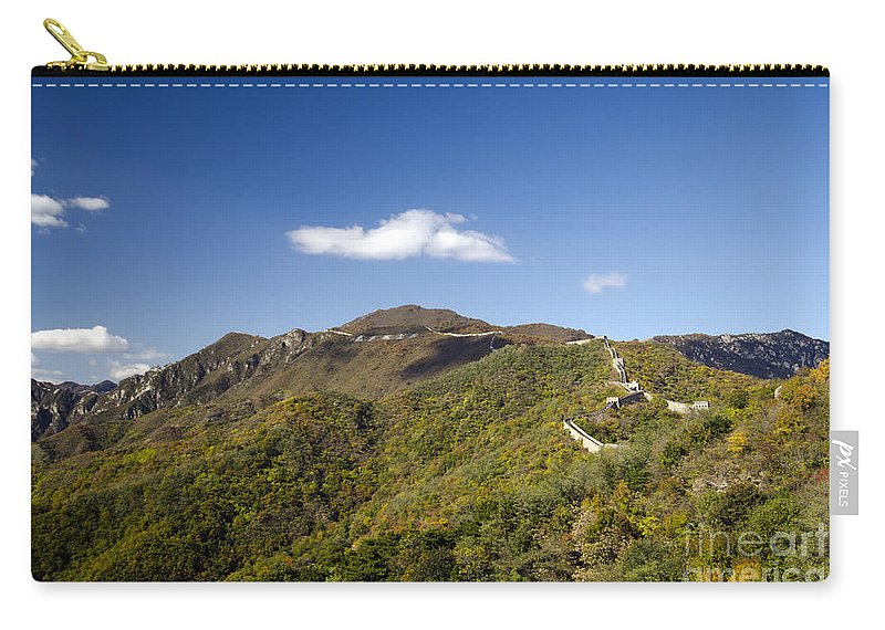 Autumn Mountains Carry-all Pouch featuring the photograph Open View 2 Of The Great Wall Mutianyu Section 603 by Terri Winkler