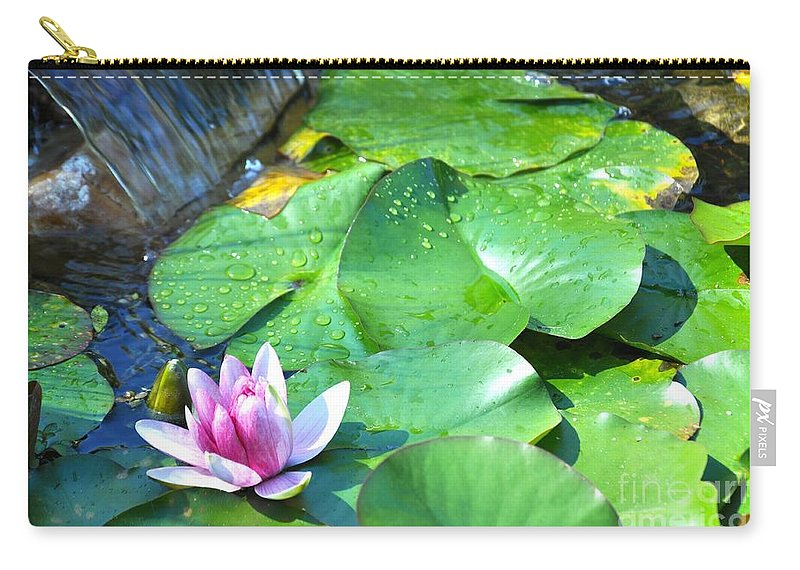 Lotus Carry-all Pouch featuring the photograph Opening by Christina McKinney