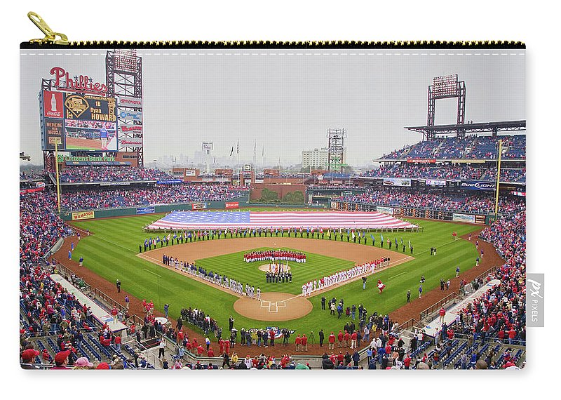 Photography Carry-all Pouch featuring the photograph Opening Day Ceremonies Featuring by Panoramic Images