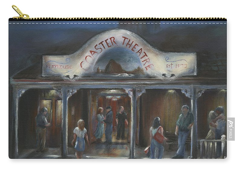 Coaster Theater Carry-all Pouch featuring the painting Opening Night by Sharon Abbott-Furze