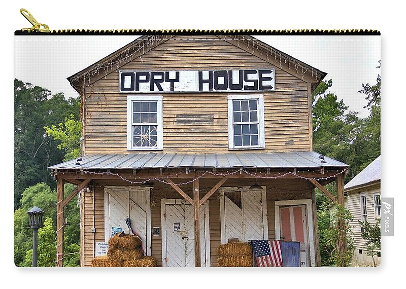 6086 Carry-all Pouch featuring the photograph Opry House - Square by Gordon Elwell