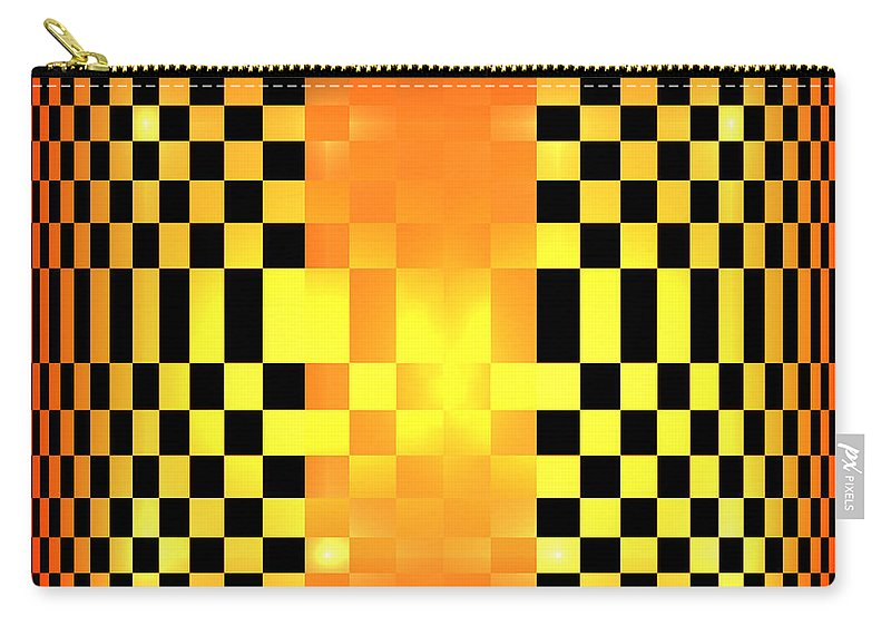 Digital Art Carry-all Pouch featuring the digital art Optical Illusion by Gabiw Art