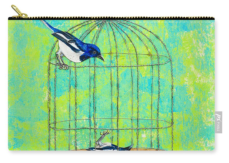 Carry-all Pouch featuring the painting Optimism Never Wins by Stefanie Forck