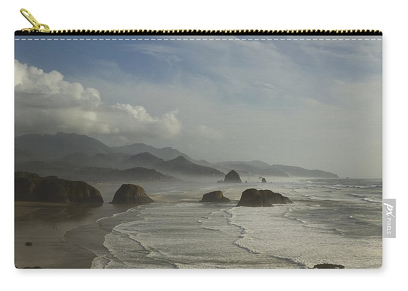 Haystack Carry-all Pouch featuring the photograph Or Coast Ecola 1 A by John Brueske