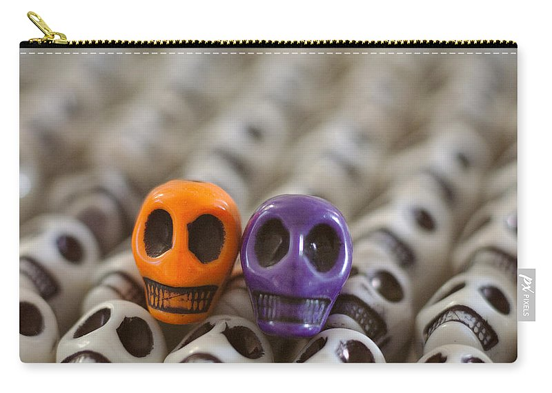 Smiles Carry-all Pouch featuring the photograph Orange And Purple by Mike Herdering