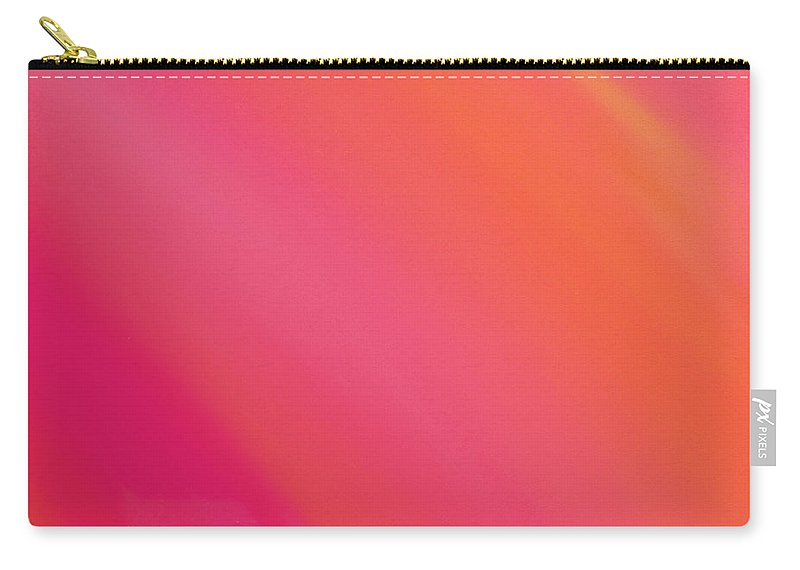 Andee Design Abstract Carry-all Pouch featuring the digital art Orange And Raspberry Sorbet Abstract 3 by Andee Design