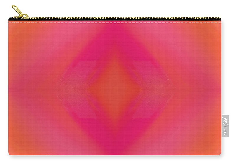 Andee Design Abstract Carry-all Pouch featuring the digital art Orange And Raspberry Sorbet Abstract 5 by Andee Design