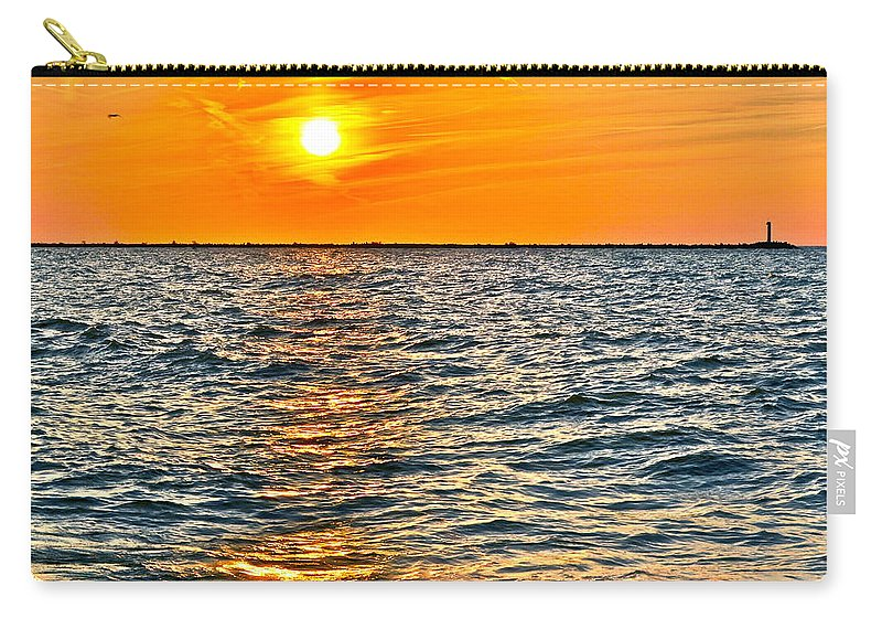 Seascape Carry-all Pouch featuring the photograph Orange Burn by Frozen in Time Fine Art Photography