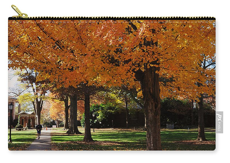 Art Carry-all Pouch featuring the photograph Orange Canopy - Davidson College by Paulette B Wright