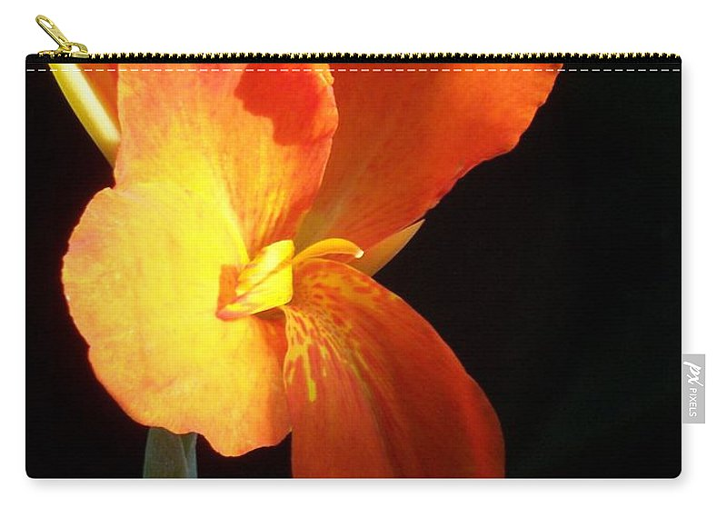 Garden Carry-all Pouch featuring the photograph Orange Flower Canna by Eric Schiabor
