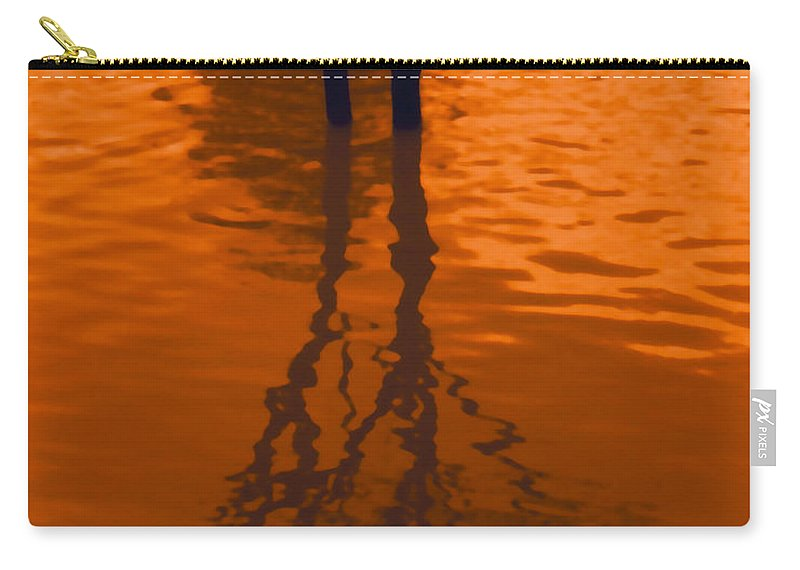 Water Carry-all Pouch featuring the photograph Orange Glow by Heather Kirk