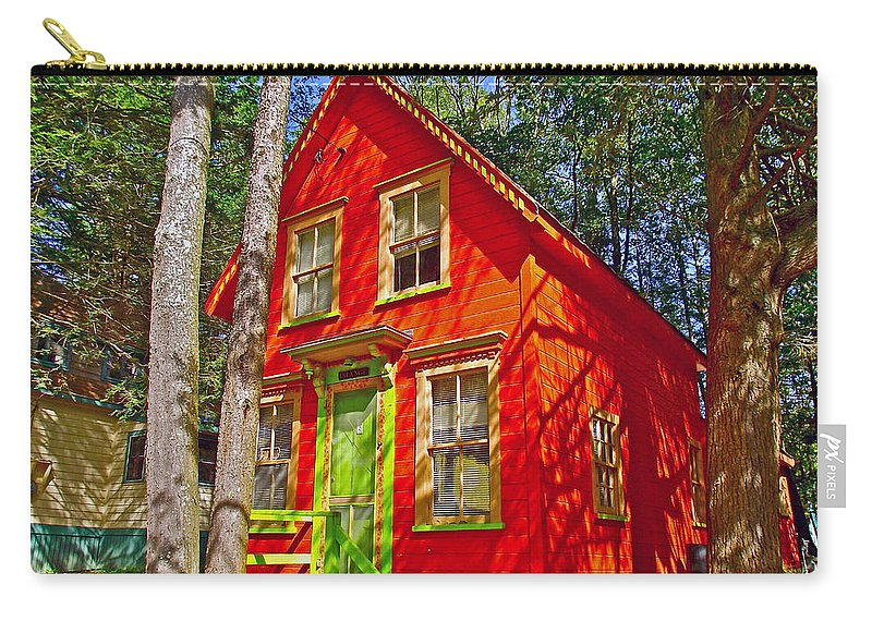 Orange In Asbury Grove In South Hamilton Carry-all Pouch featuring the photograph Orange In Asbury Grove In South Hamilton-massachusetts by Ruth Hager