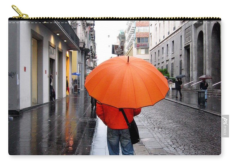Man Carry-all Pouch featuring the photograph Orange Mood by Irina Davis