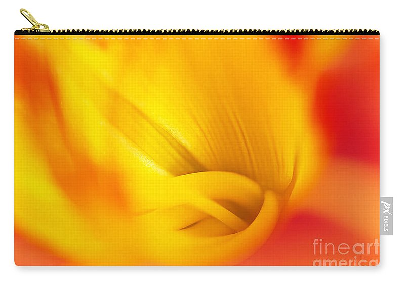Tiger Lily Carry-all Pouch featuring the photograph Orange Sherbet by Gwen Gibson
