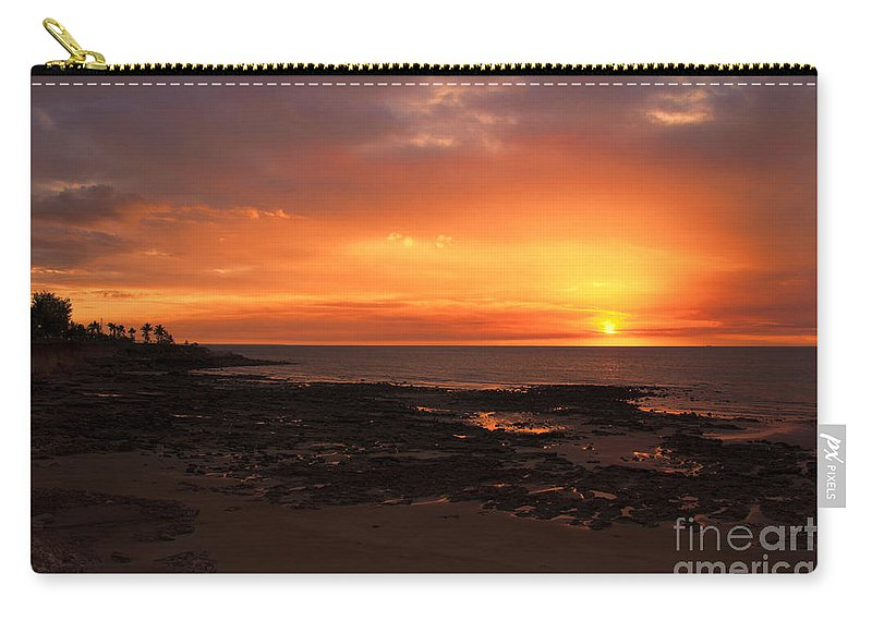 Orange Carry-all Pouch featuring the photograph Orange Sky by Douglas Barnard