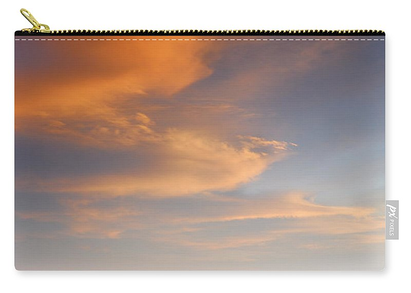 Sunset Carry-all Pouch featuring the photograph Orange Sunset At The Rocks by Guido Montanes Castillo