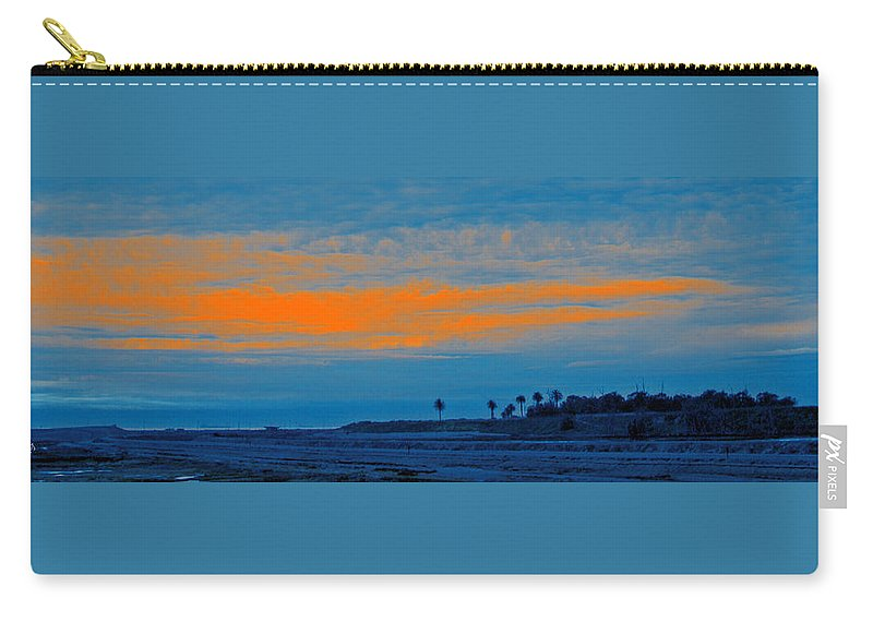 Sunset Carry-all Pouch featuring the photograph Orange Sunset by Ben and Raisa Gertsberg