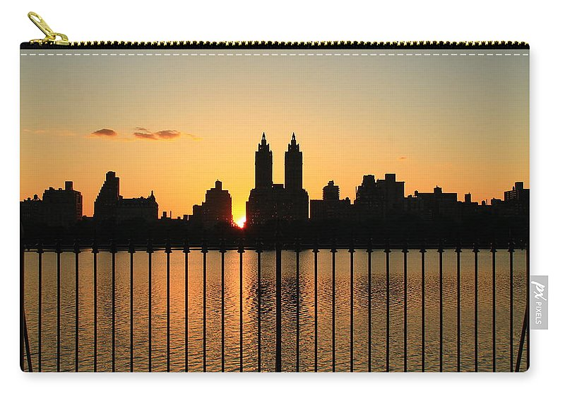 Central Park Carry-all Pouch featuring the photograph Orange Tint by Catie Canetti