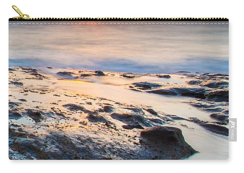 Orcas Carry-all Pouch featuring the photograph Orcas Triptych 3 by Robert Bynum