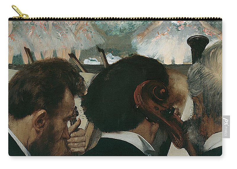 Edgar Degas Carry-all Pouch featuring the painting Orchestra Musicians by Edgar Degas