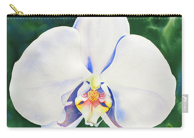 Orchid Carry-all Pouch featuring the painting White Orchid by H Cooper