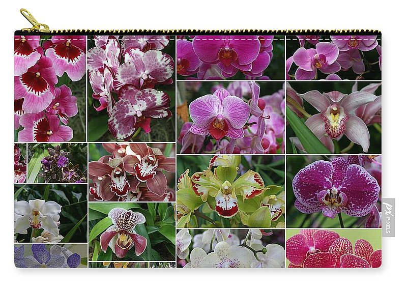 Collage Carry-all Pouch featuring the photograph Orchid Collage 1 by Allen Beatty