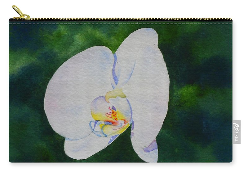 Orchid Carry-all Pouch featuring the painting Orchid Dance 1 by H Cooper