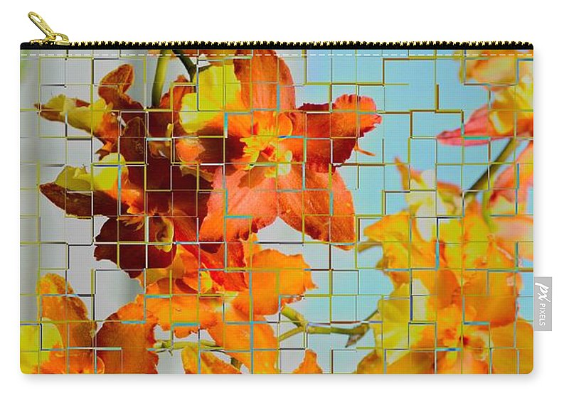 Orchid Drapes Carry-all Pouch featuring the photograph Orchid Drapes by Sonali Gangane