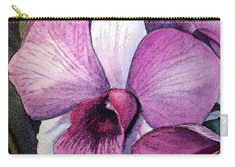 Orchid Carry-all Pouch featuring the painting Orchid by Irina Sztukowski