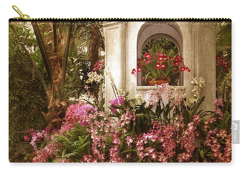 Flowers Carry-all Pouch featuring the photograph Orchid Show by Jessica Jenney