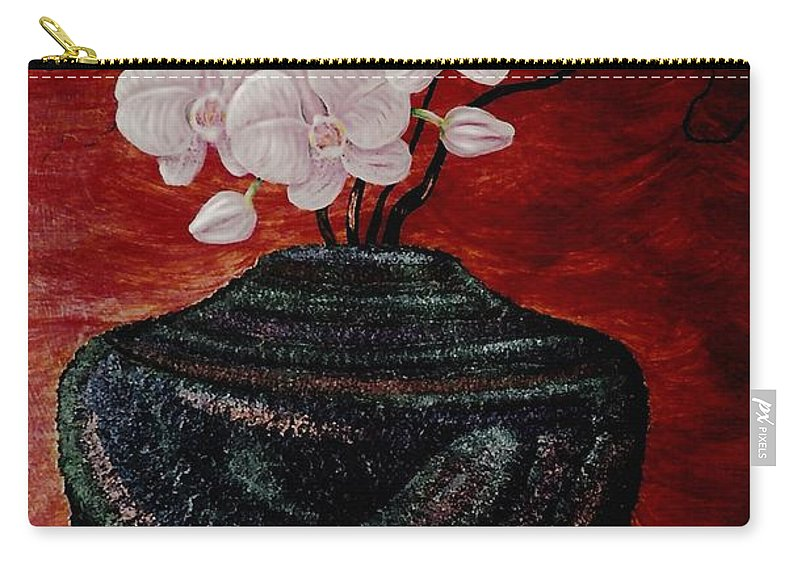 Orchids Carry-all Pouch featuring the painting Orchids And Passion by Dale Crum