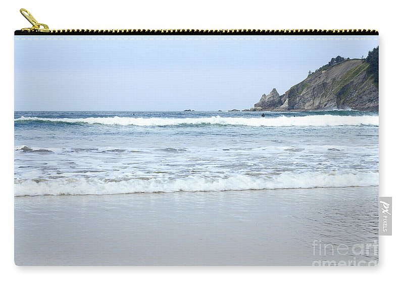 Beach Carry-all Pouch featuring the photograph Oregon Beach by Lee Serenethos