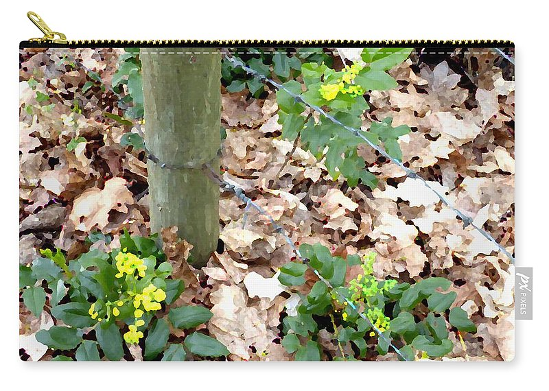 Oregon Grape Painting Carry-all Pouch featuring the digital art Oregon Grape Painting by Will Borden