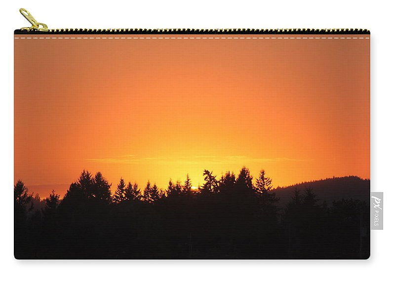 Sunset Carry-all Pouch featuring the photograph Oregon Sunset by Melanie Lankford Photography