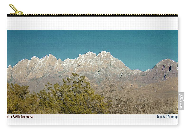 Jack Pumphrey Photograph Of The Organ Mountains-desert Peaks National Monument Carry-all Pouch featuring the photograph Organ Mountain Wilderness by Jack Pumphrey