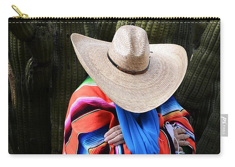 Sonoran Desert Carry-all Pouch featuring the photograph Organ Pipe Cactus The Visitor 2 by Bob Christopher